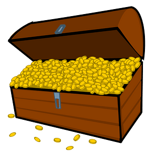 Treasure chest clipart