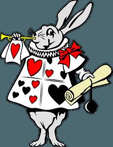 Rabbit from Alice in Wonderland clipart