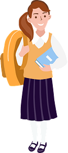School girl clipart