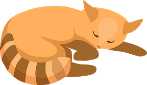 Sleeping cat clipart