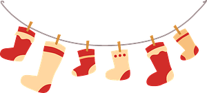 Сhristmas stocking clipart