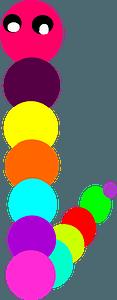 Rainbow caterpillar clipart