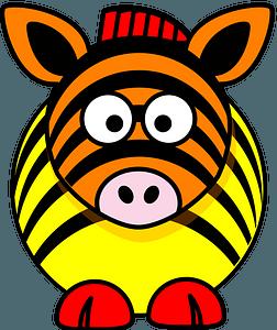 Rainbow zebra clipart