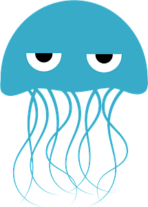 Frowning Jellyfish clipart