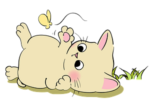 Kitten and Butterfly clipart
