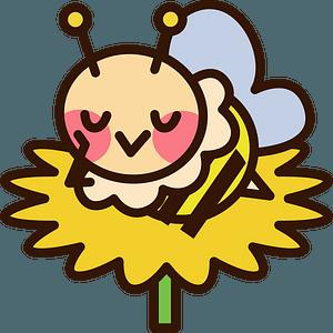 Honey bee is sleeping clipart