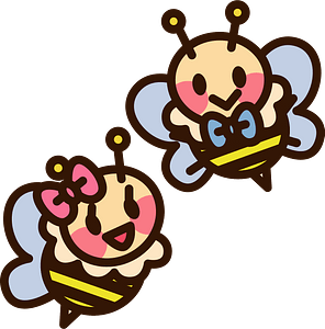 Honey bee insect couple clipart