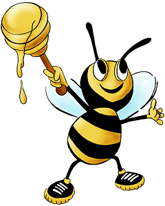 Smiling Honey Bee clipart