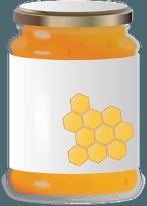 Honey jar clipart