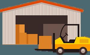 Warehouse forklift clipart