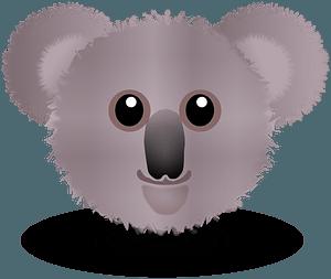 Funny koala face cartoon clipart