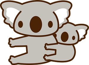 Koalas - mother and baby clipart