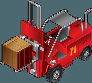 Forklift truck clipart