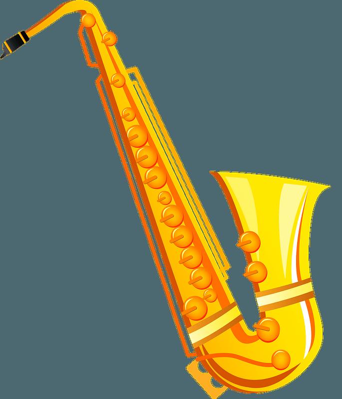Saxophone musical instrument clipart