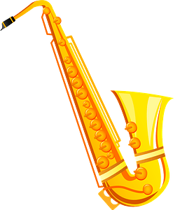 Saxophone musical instrument clipart