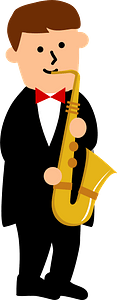 Saxophone player clipart