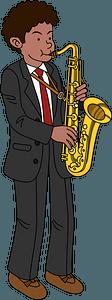 Saxophonist man clipart