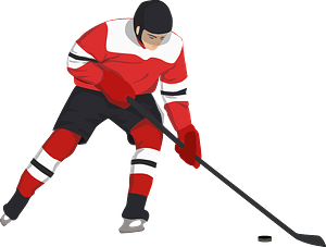 Hockey player clipart