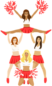 Cheerleaders clipart
