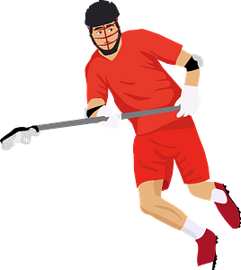 Lacrosse player clipart