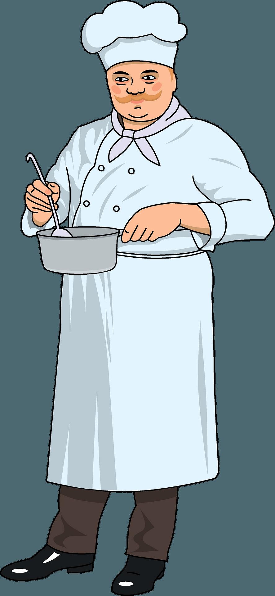 Happy Chef Cartoon Mascot Clipart Royalty Free Vector Image