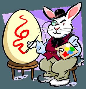 Rabbit painter clipart