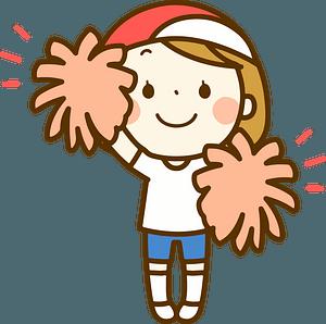 Cheerleader girl clipart