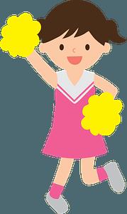 Cheerleader girl 剪贴画