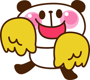 Giant panda cheerleader 剪贴画