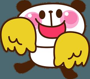 Giant panda cheerleader clipart