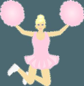 Jumping cheerleader clipart