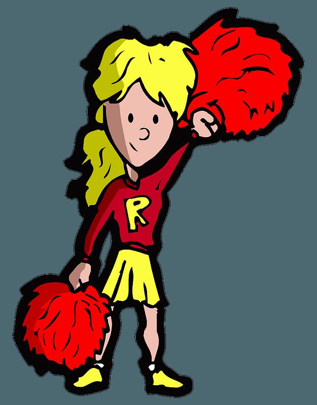 Cheerleader immagine clipart