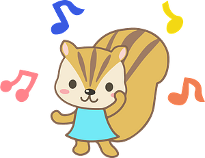 Squirrel animal dance clipart