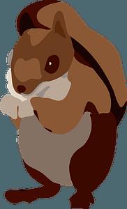 Squirrel animal clipart