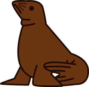 Steller sea lion clipart