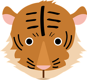 Tiger face 클립 아트