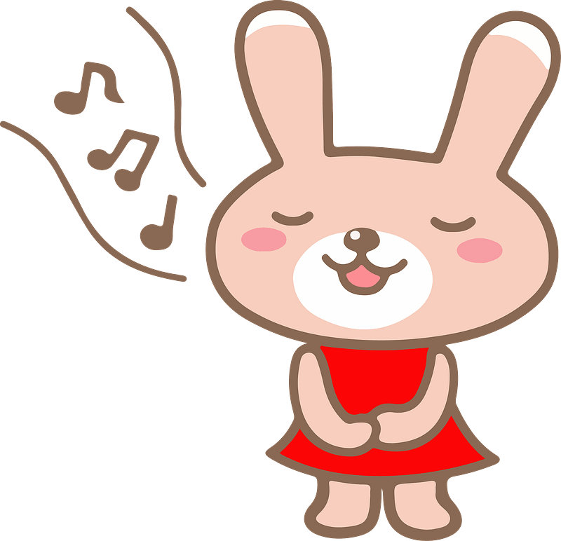 Rabbit Singing Clipart Free Download Transparent Png Creazilla