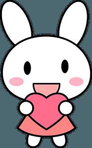 Rabbit bunny with heart clipart