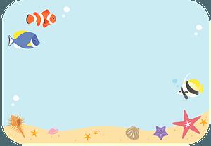 Sea fish underwater clipart