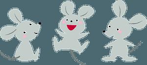 Three Mice clipart