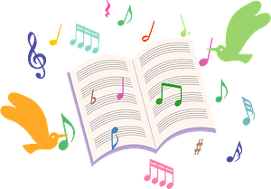 Musical notes - sheet music clipart
