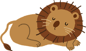 Lion is sleeping clipart