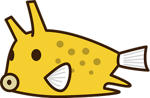 Longhorn cowfish clipart