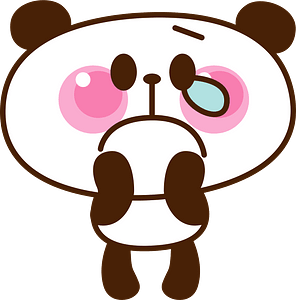 Giant panda is crying clipart