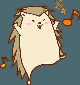 Dancing Hedgehog clipart
