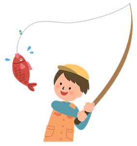 Man fishing clipart