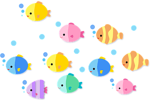 Colorful Fishes clipart