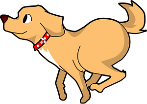 Dog Is running clipart