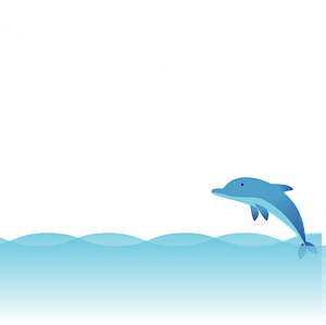 Dolphin in the sea 클립 아트