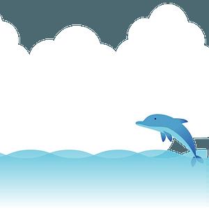 Dolphin in the sea clipart